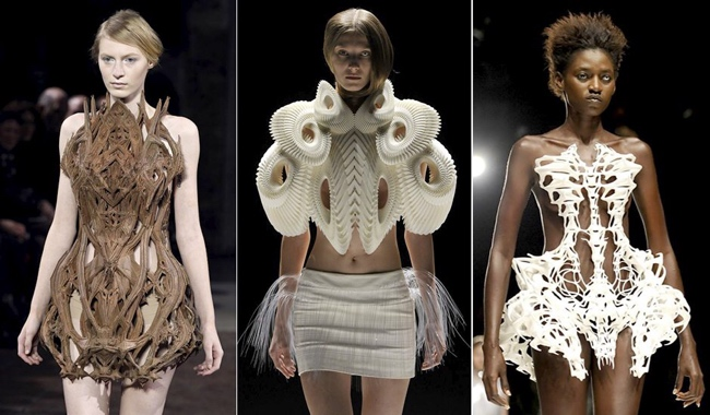 Photographs by Gareth Cattermole of Iris van Herpen's 3D printed collection.