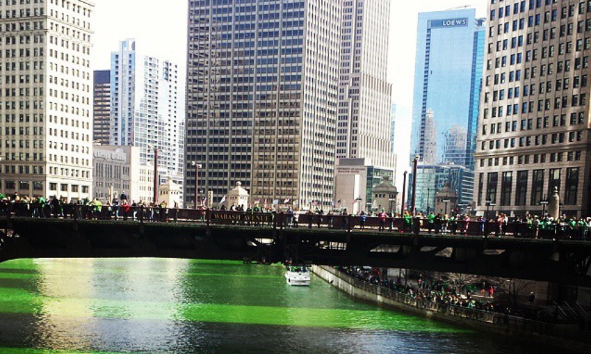 Chicago Celebrates St. Patrick's Day on the Green River
