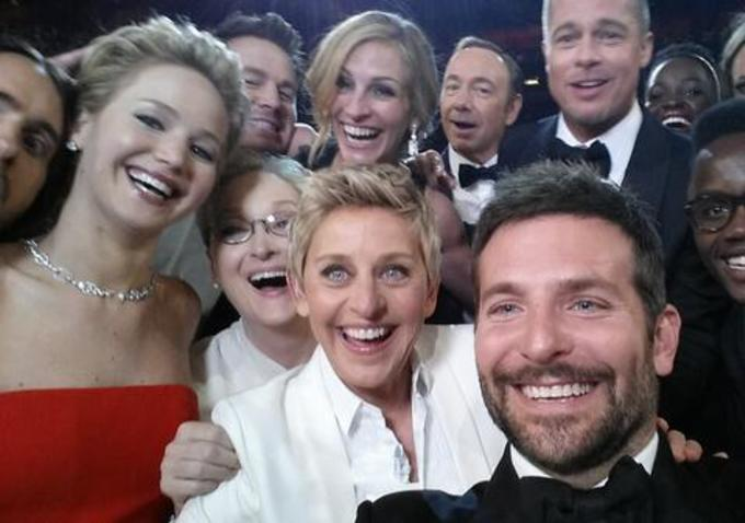 THERE WAS NO OSCAR SELFIE THIS YEAR