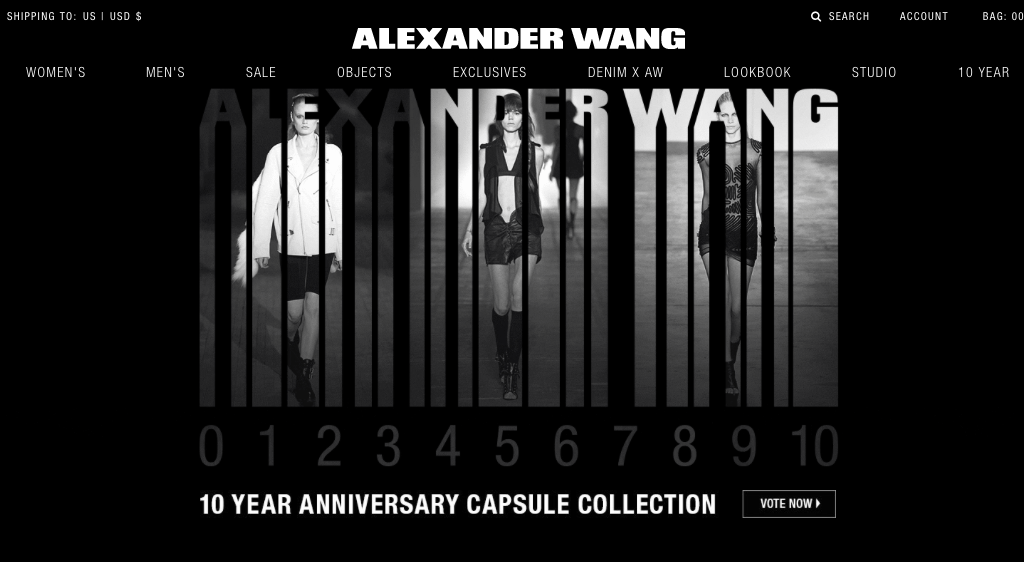 Alexander Wang's 10 Year Anniversary Project