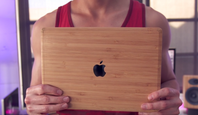 "Light Bamboo Wood Apple Macbook Pro 15"" Retina Skin"