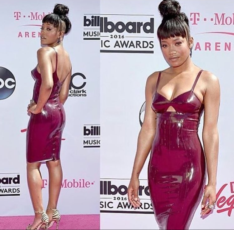 KekePalmer looks radiant tonight on the PINK carpet