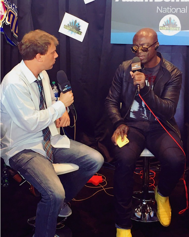 Things got serious with @Seal and @adambombshow #BBMAs #WWOBackstage