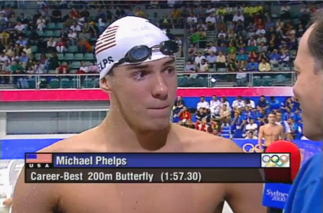 MichaelPhelps at the Sydney 2000 Olympics