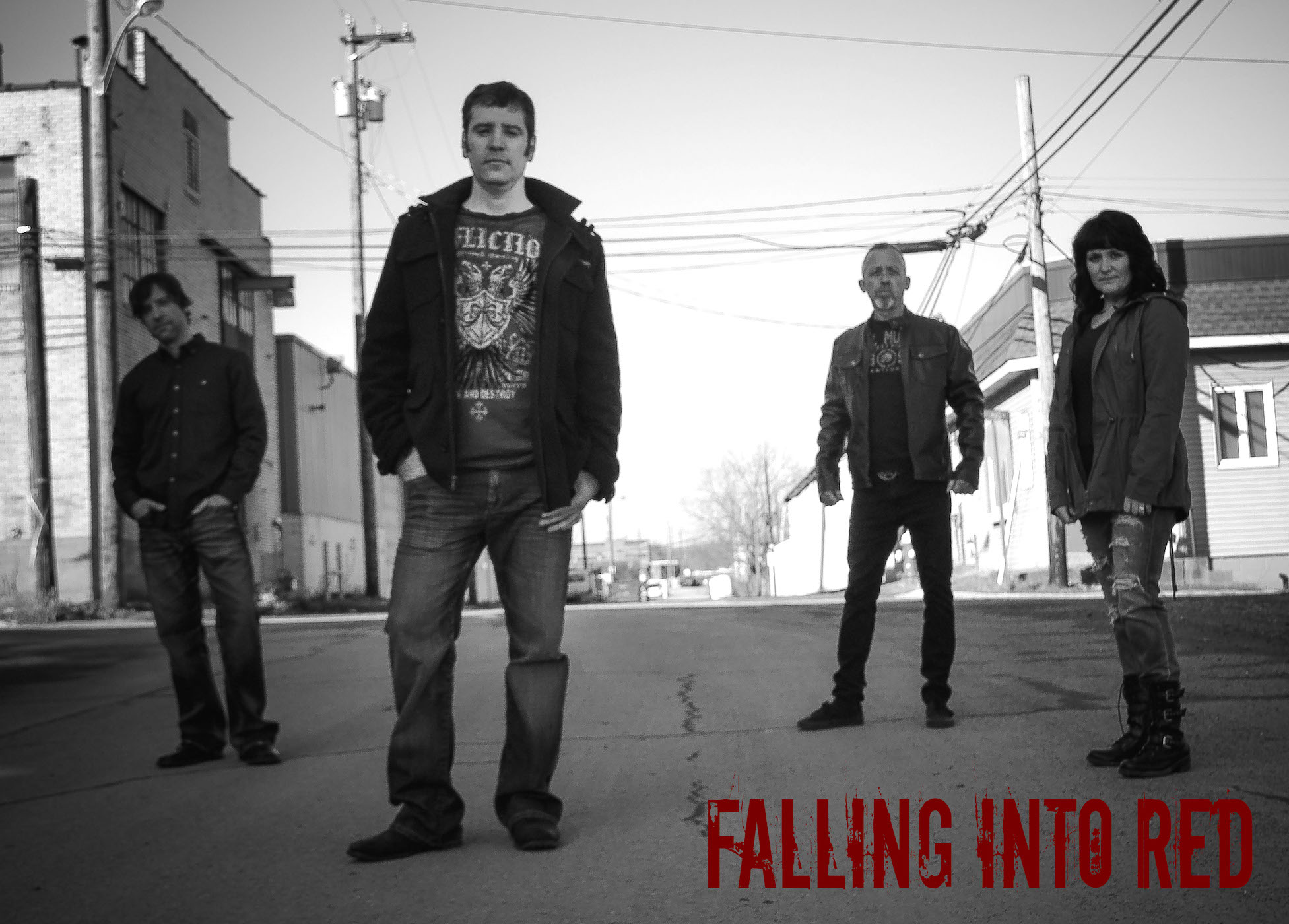 American Rock Band Falling Into Red