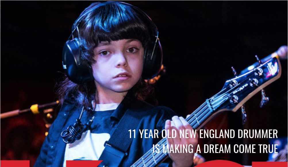 11 Year Old New England Drummer Thomas Thunder is Making a Dream Come True